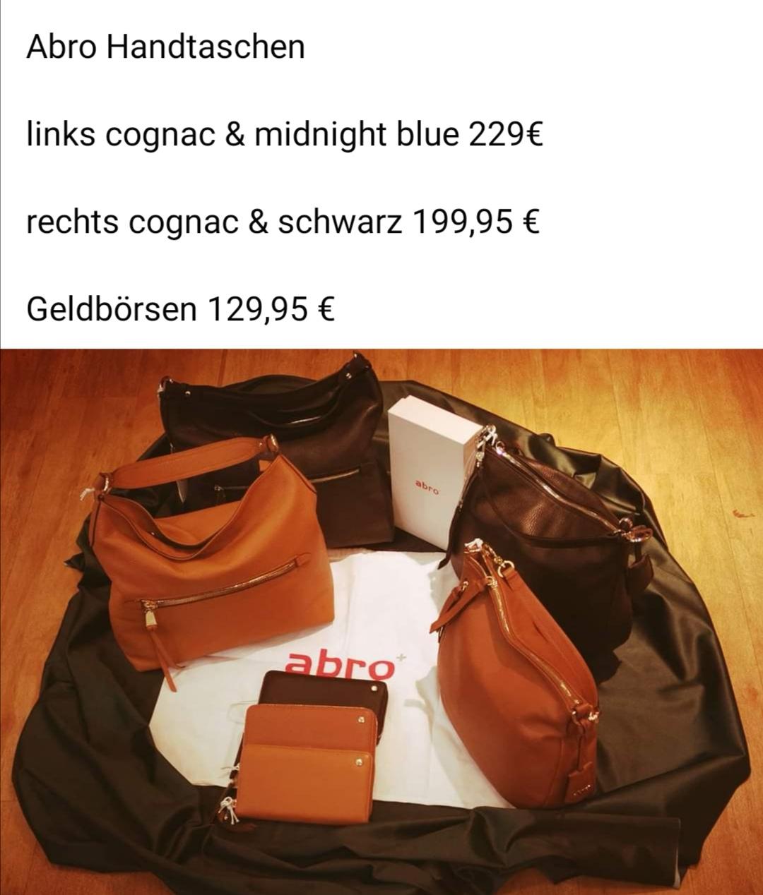 Abro Taschen und Geldbörse