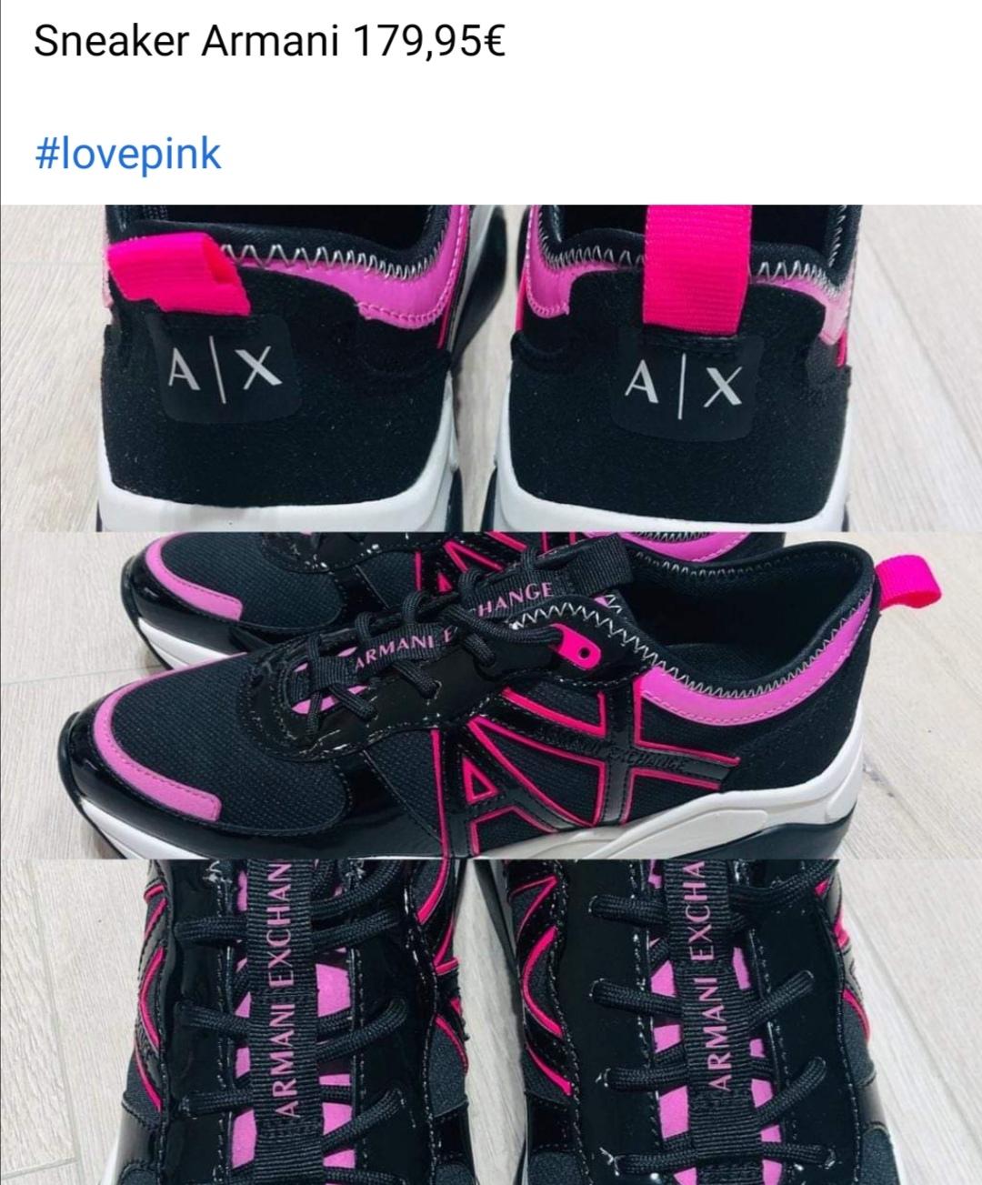 Sneaker Armani pink schwarz