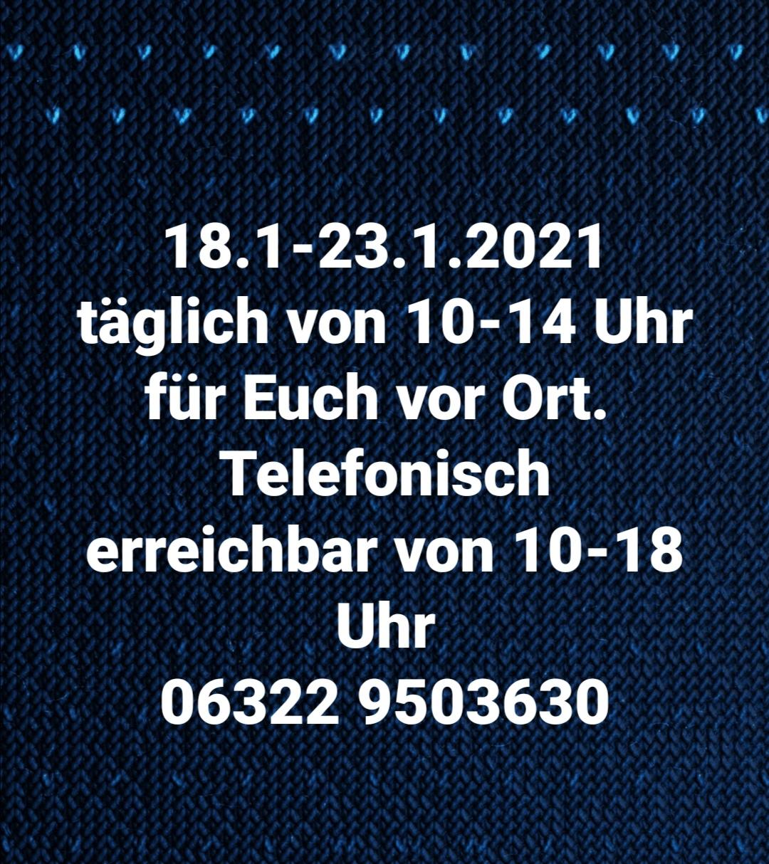 Öffnungszeiten 18-23.01.21