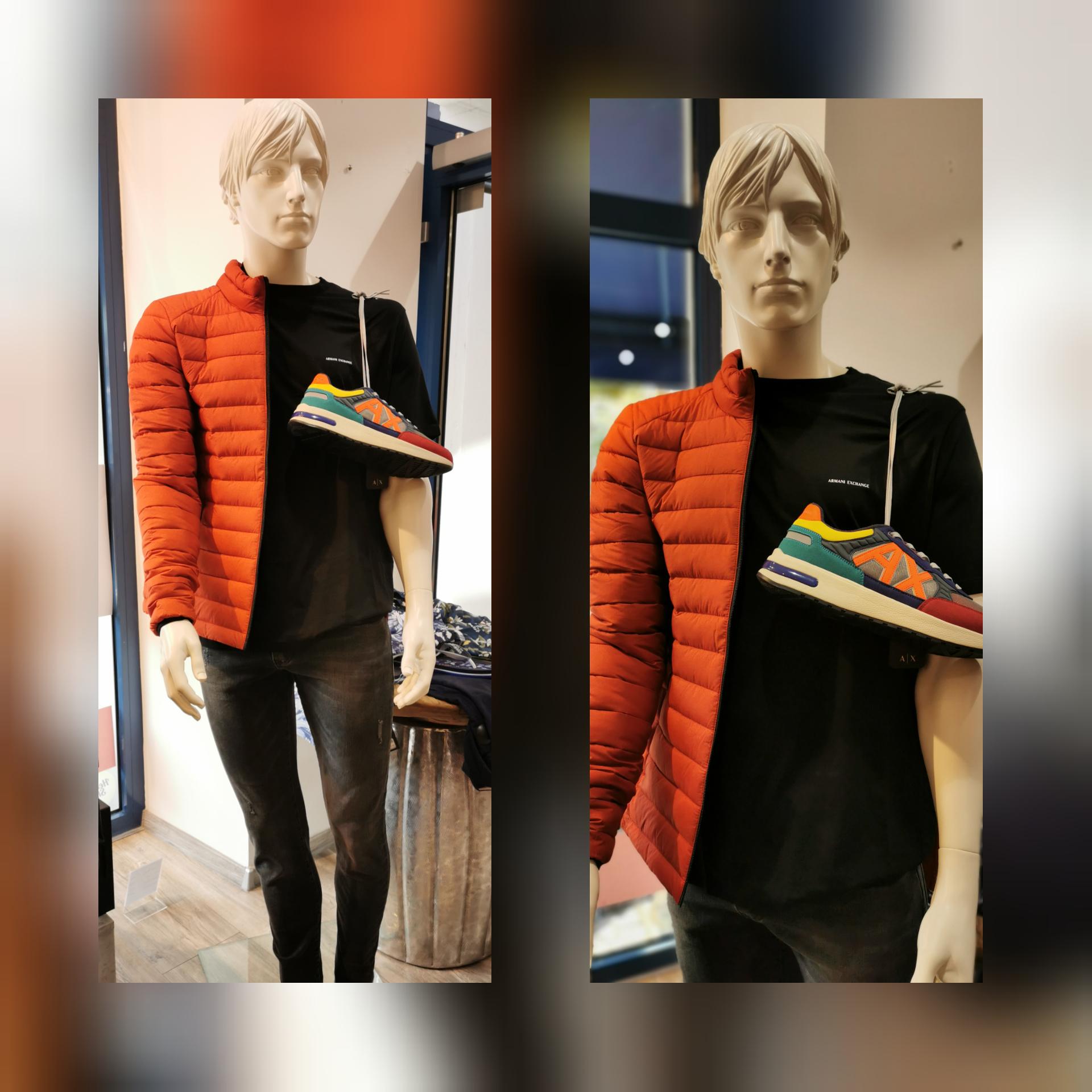 Jacke Ecoalf, Shirt, Hose Schuhe Armani