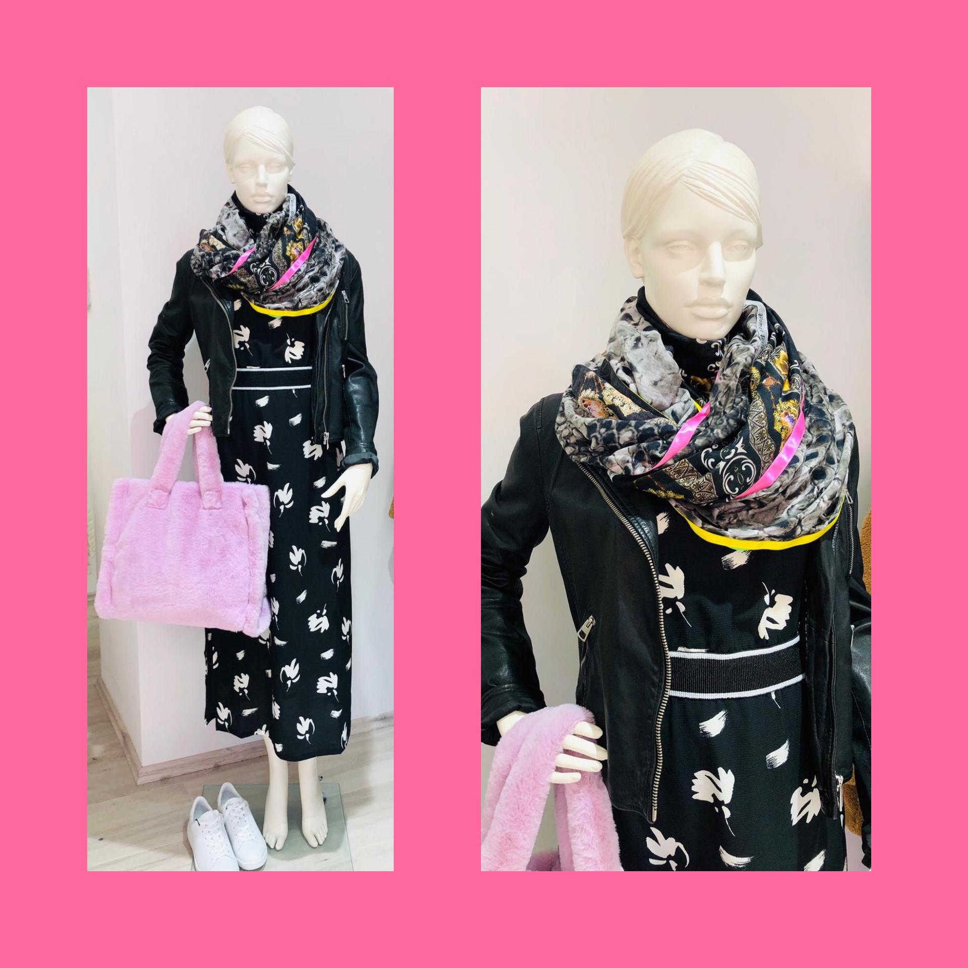 Kleid Plüschtasche Tuch