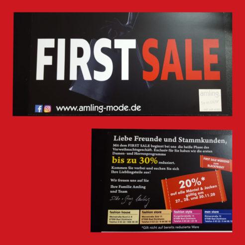 Aktion First Sale