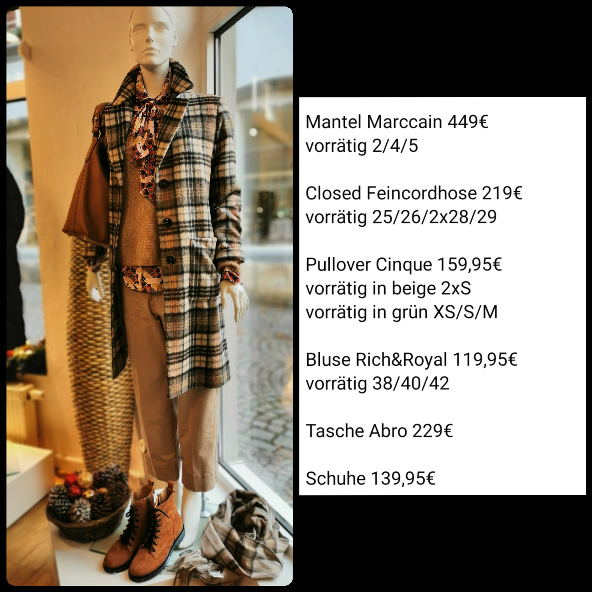 Closed Hose, Marccain Mantel